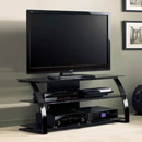 "Bello PVS-4206HG Curved Wood TV Stand up to 55"" TVs. Bello-PVS-4206HG"