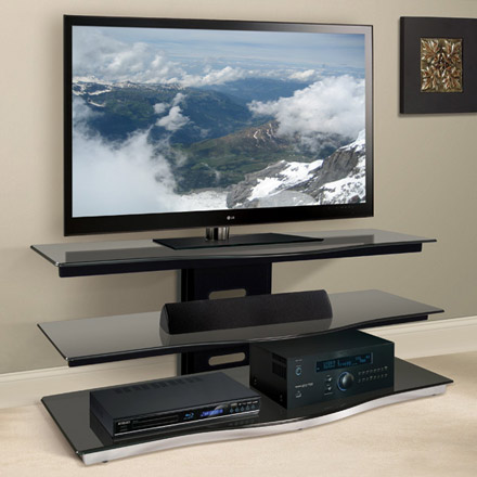 Bello PVS4252 TV Stand in Black Finish up to 55