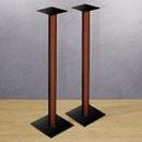 "Bello SP211 - 30"" Tall Speaker Stand with Cherry Finish. Bello-SP211"