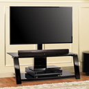 "Bello TP4444 TV Stand up to 55"" TVs in Black finish. Bello-TP4444"