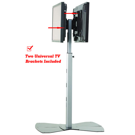 Chief MF2UB or MF2US Medium Flat Panel Dual Display Floor Stand for 30