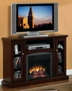 "Classic Flame BANCROFT 18DE9033-PM92 TV Stand with Electrical Fireplace up to 47"" TVs. ClassicFlame-18DE9033-PM92"