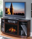 "Classic Flame Hampton 26MM4155-W324 TV Stand with Electrical Fireplace up to 55"" TVs. ClassicFlame-26MM4155-W324"