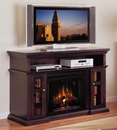 "Classic Flame Pasadena 28MM468-E721 TV Stand with Electrical Fireplace up to 60"" TVs. ClassicFlame-28MM468-E721"