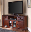 "Crosley CF1000260-MA - 60"" Corner TV Stand in Vintage Mahogany color. Crosley-CF100260-MA"