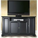 "Crosley Furniture KF10001ABK Alexandria 60"" TV Stand in Black Finish. Crosley-KF10001ABK-AKS42"