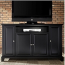 "Crosley Furniture KF10001CBK LaFayette 60"" TV Stand in Vintage Mahogany Finish. Crosley-KF10001CBK-AKS42"