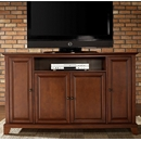 "Crosley Furniture KF10001CCH Newport 60"" TV Stand in Classic Cherry Finish. Crosley-KF10001CCH-AKS42"