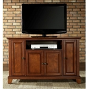 "Crosley Furniture KF10002CCH Newport 48"" TV Stand in Classic Cherry Finish. Crosley-KF10002CCH-AKS42"