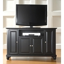 "Crosley Furniture KF10002DBK Cambridge 48"" TV Stand in Black Finish. Crosley-KF10002DBK-AKS42"