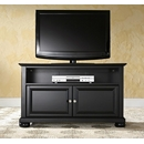 "Crosley Furniture KF10003ABK Alexandria 42"" TV Stand in Black Finish. Crosley-KF10003ABK-AKS42"