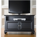 "Crosley Furniture KF10003DBK Cambridge 42"" TV Stand in Black Finish. Crosley-KF10003DBK-AKS42"