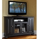 "Crosley Furniture KF10006ABK Alexandria 48"" Corner TV Stand in Black Finish. Crosley-KF10006ABK-AKS42"