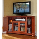 "Crosley Furniture KF10006ACH Alexandria 48"" Corner TV Stand in Classic Cherry Finish. Crosley-KF10006ACH-AKS42"