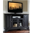 "Crosley Furniture KF10006BBK LaFayette 48"" Corner TV Stand in Black Finish. Crosley-KF10006BBK-AKS42"