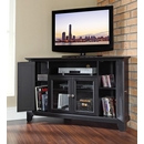 "Crosley Furniture KF10006CBK Newport 48"" Corner TV Stand in Black Finish. Crosley-KF10006CBK-AKS42"