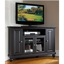 "Crosley Furniture KF10006DBK Cambridge 48"" Corner TV Stand in Black Finish. Crosley-KF10006DBK-AKS42"