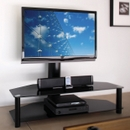 "OmniMount Modena 47FP for 37"" - 47"" Flat Panel TV Stand with Black Shelves. OMNI-HTF-MS-47FP"