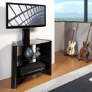 "OmniMount Verona 37FP for 26""- 37"" Flat Panel TV Stand with Black Shelves. OMNI-HTF-VS-37FP"