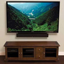"Sanus ACV73 TV Stand in Caramel Brown or Charcoal finish up to 80"" TVs. Sanus-ACV73"