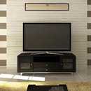 "Sanus CADENZA75 Audio/Video Cabinet TV Stand up to 80"" TVs in Charcoal finish."