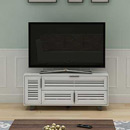 "Sanus JUNIPER53 TV Stand up to 60"" TVs in Antique White finish. Sanus-JUNIPER53"