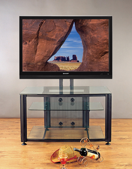 flat screen tv on tv stand