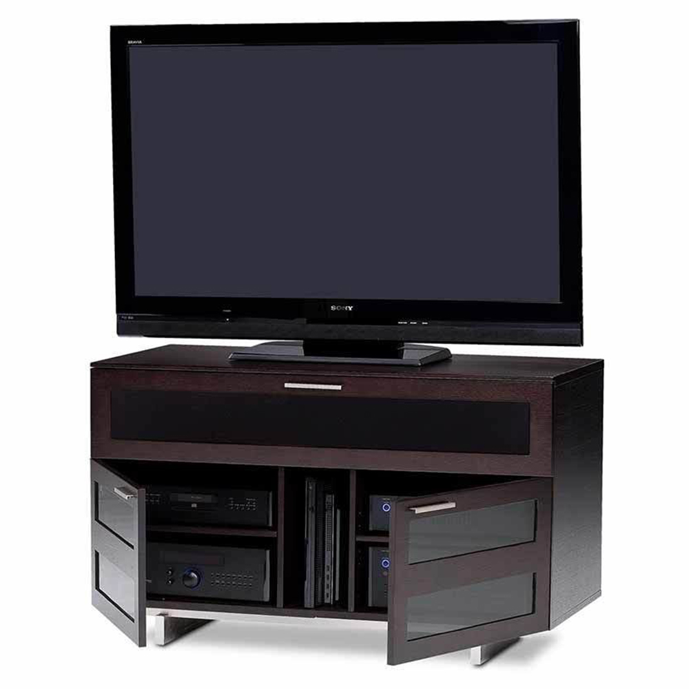 Bdi avion 8928 tv stand up to 55 tvs in espresso stained for Miroir 50in projector review