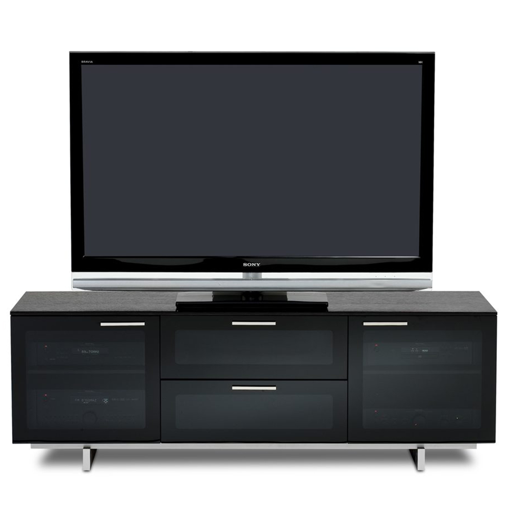 Bdi Avion Noir 8937 Tv Stand Up To 75 Quot Tvs In Black Finish