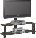 Flat Panel Mount & Stand (Black Finish with Black Glass)