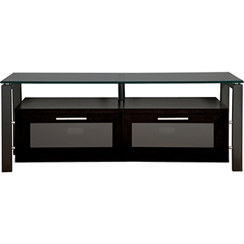"Plateau DECOR 50 B-B-BG TV Stand up to 55"" TVs in Black Oak finish with Black Frame and Black Glass. Plateau-Decor-50-B-B-BG"