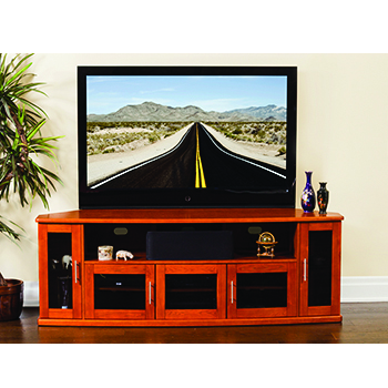 "Plateau Newport 80 Corner TV Stand up to 90"" TVs in Walnut finish. Plateau-Newport-80-W"