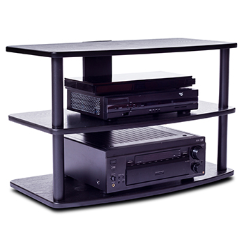 "Plateau SF-3V 32 B-B TV Stand up to 32"" in Black Oak finish."