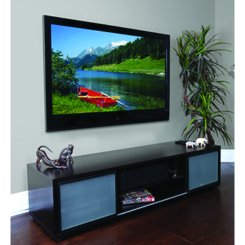 "Plateau SR-V(75) TV Stand up to 75"" TVs in Espresso finish."