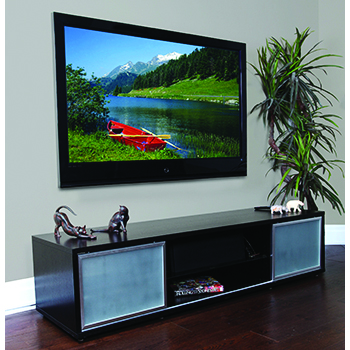 "Plateau SR-V 75 EB-S TV Stand up to 80"" TVs in Espresso finish. PLATEAU-SR-V-75-EB-S"