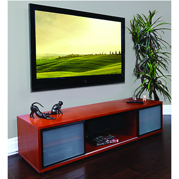 "Plateau SR-V(75) TV Stand up to 75"" TVs in Cherry finish. PLATEAU-SR-V-75-C"