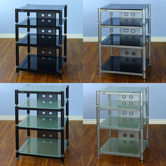 Vti Series Blg404 13 4 Shelf Audio Rack Tv Stand Up To 27 Tvs In
