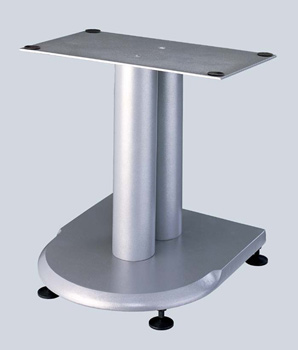 "VTI UFC 13"" height Center Speaker Stand in Grey Silver Cast Iron color."