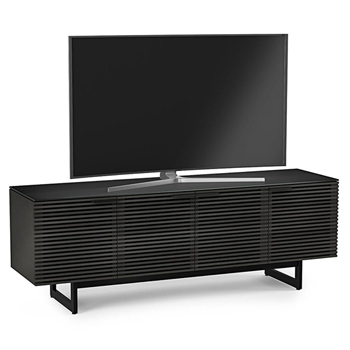"BDI CORRIDOR 8179 TV Stand up to 85"" TVs in Charcoal Stained Ash finish."