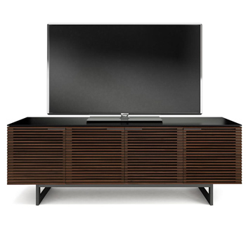 "BDI CORRIDOR 8179 TV Stand up to 85"" TVs in Chocolate Stained Walnut finish."