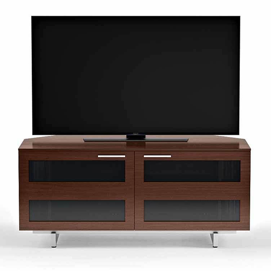 Bdi Avion 8925 Corner Tv Stand Up To 60 Tvs In Chocolate Stained Walnut Color