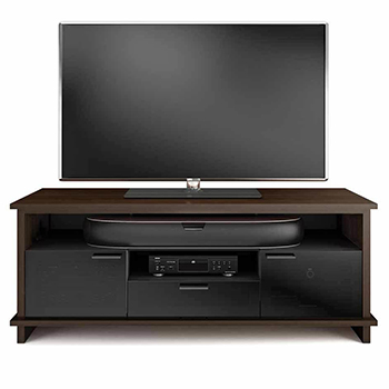 "BDI BRADEN 8828 TV Stand up to 75"" in Chocolate Stained Walnut finish. BDI-BRADEN-8828-CSW"