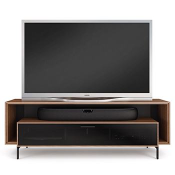 "BDI CAVO 8167 Low Profile TV Stand up to 70"" Flat Panel TVs in Natural Walnut finish."