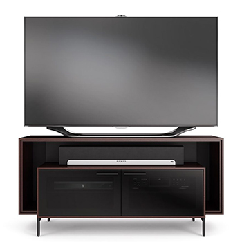 "BDI CAVO 8168 Low Profile TV Stand up to 60"" Flat Panel TVs in Espresso Stained Oak finish."