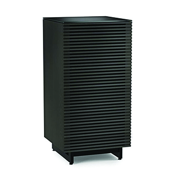BDI Corridor 8172 AUDIO TOWER Cabinet In Charcoal Stained Ash Color. BDI-Corridor-8172-Charcoal