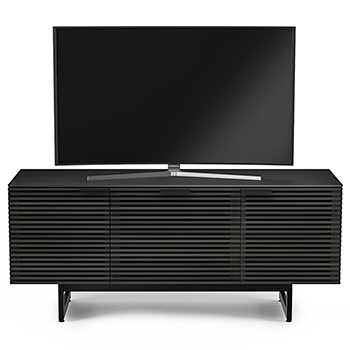 "BDI CORRIDOR 8177 TV Stand up to 70"" TVs in Charcoal Stained Ash Color. BDI-CORRIDOR-8177-Charcoal"