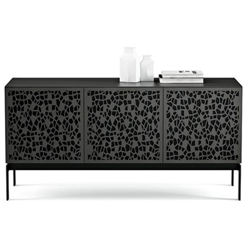 "BDI Elements 8777-CO Audio Cabinet TV Stand up to 70"" TV's in Charcoal Stained Ash color and Mosaic Patterns doors."