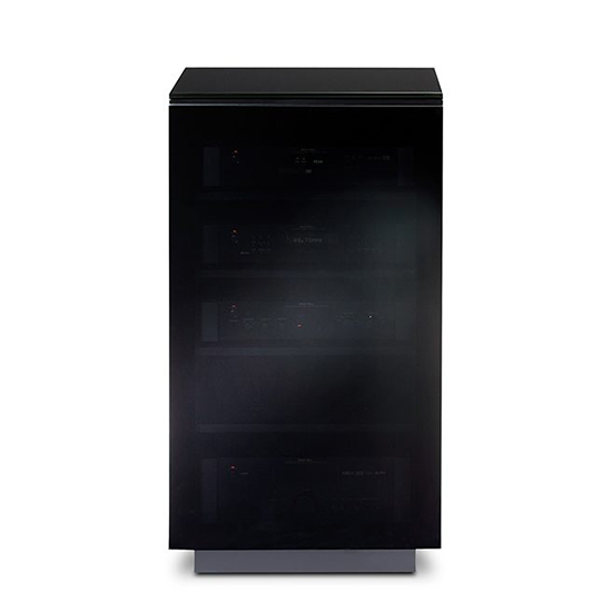 BDI Mirage 8222 Audio Tower Cabinet in Black color. BDI-Mirage-8222
