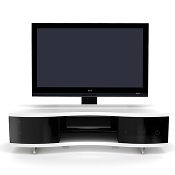 "BDI OLA 8137 TV Stand up to 73"" TVs in Satin White finish."