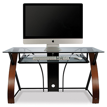 Bello CD8855 Computer Desk in High Gloss Black finish. Bello-CD8841